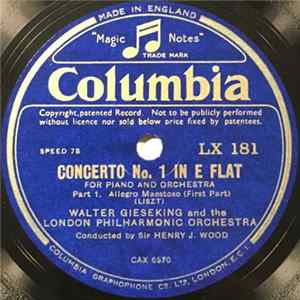 Walter Gieseking And The London Philharmonic Orchestra - Concerto No. 1 In E Flat FLAC